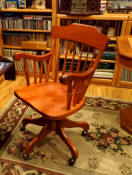 Swivel desk chair all cherry stain